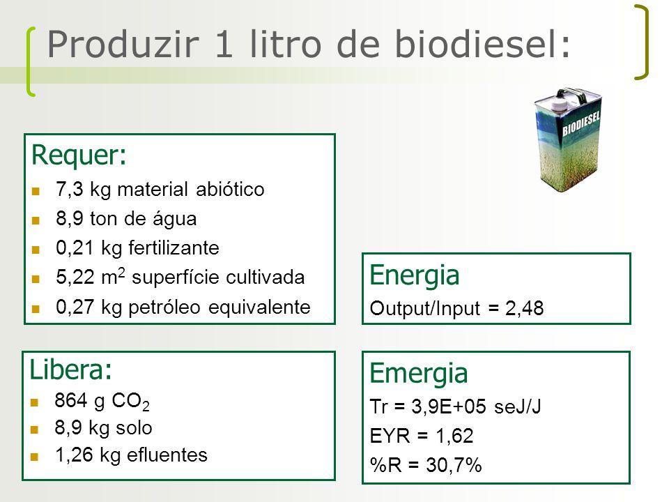 Produzir 1 litro de biodiesel: