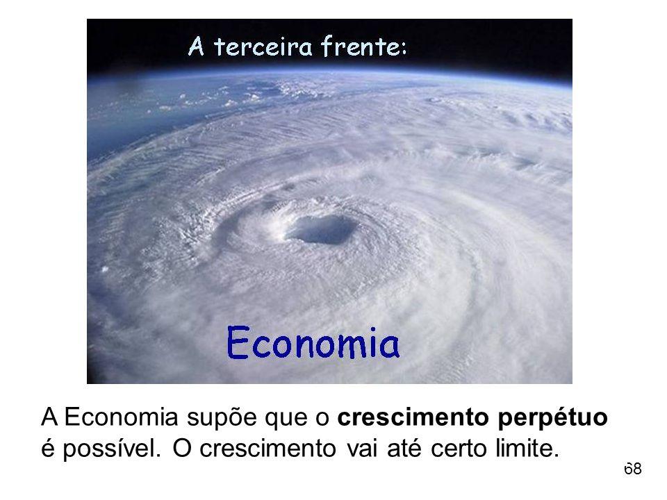 A Economia supõe que o crescimento perpétuo é possível