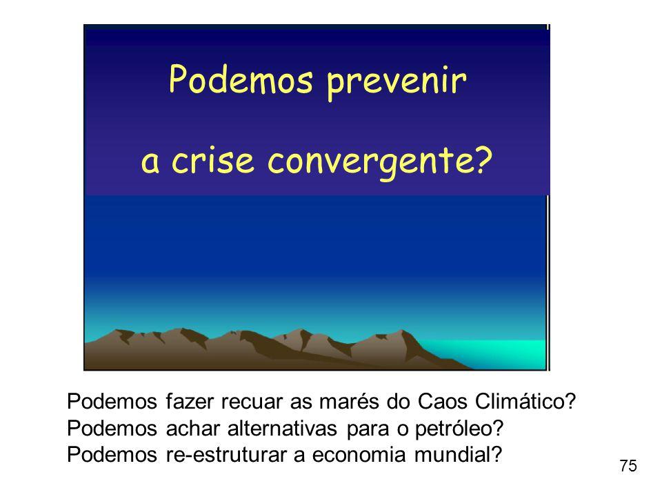 Podemos prevenir a crise convergente