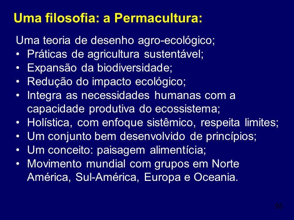 Uma filosofia: a Permacultura: