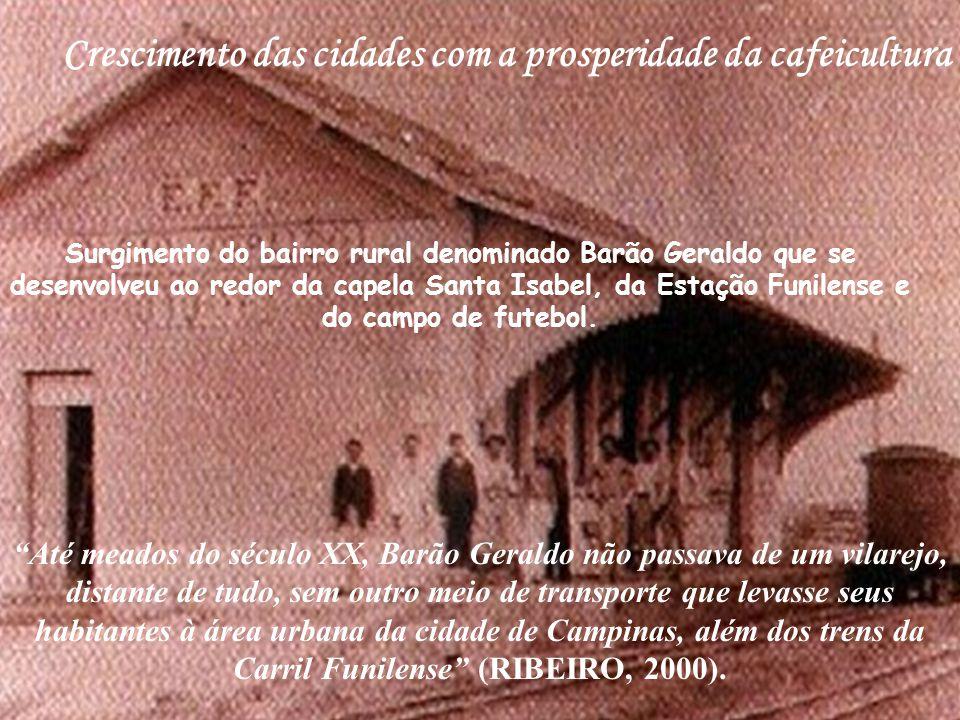 Crescimento das cidades com a prosperidade da cafeicultura
