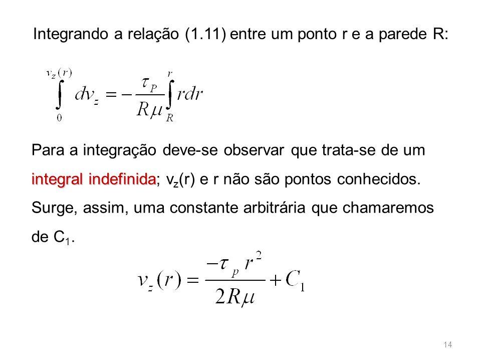 Integrando a relação (1.11) entre um ponto r e a parede R: