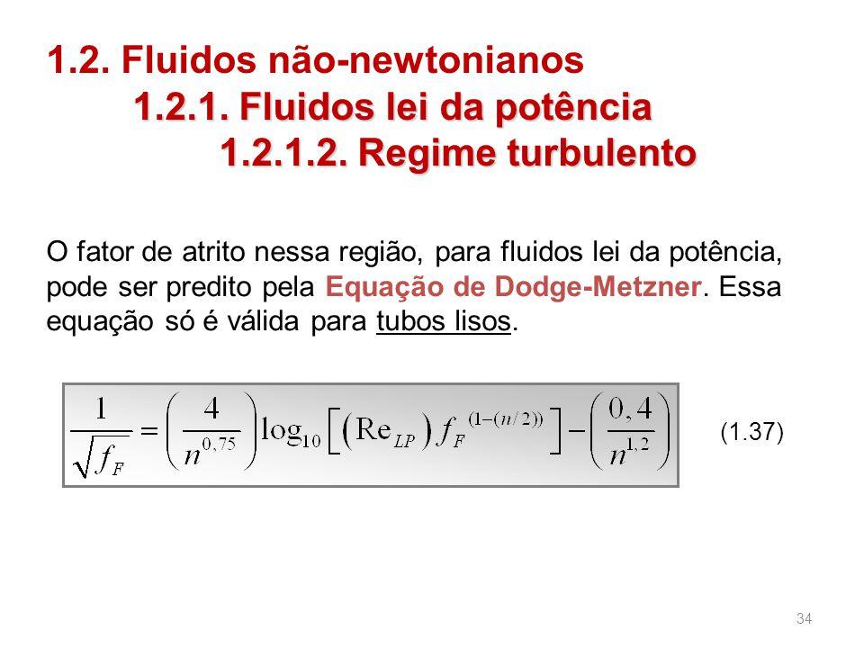 1. 2. Fluidos não-newtonianos. 1. 2. 1. Fluidos lei da potência. 1. 2
