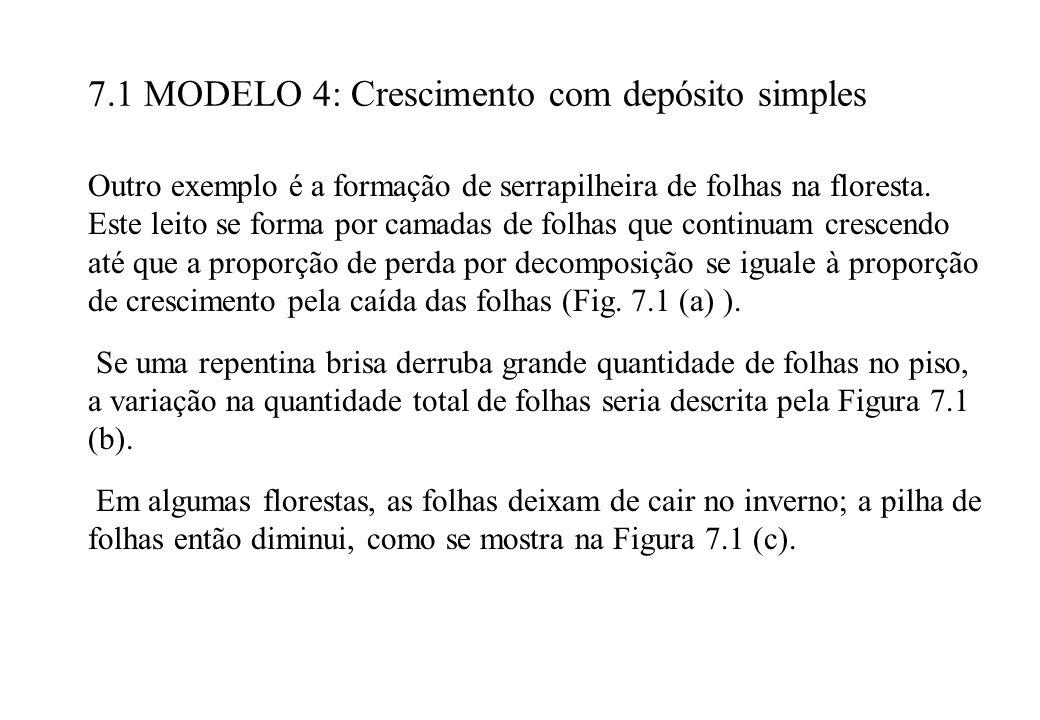 7.1 MODELO 4: Crescimento com depósito simples