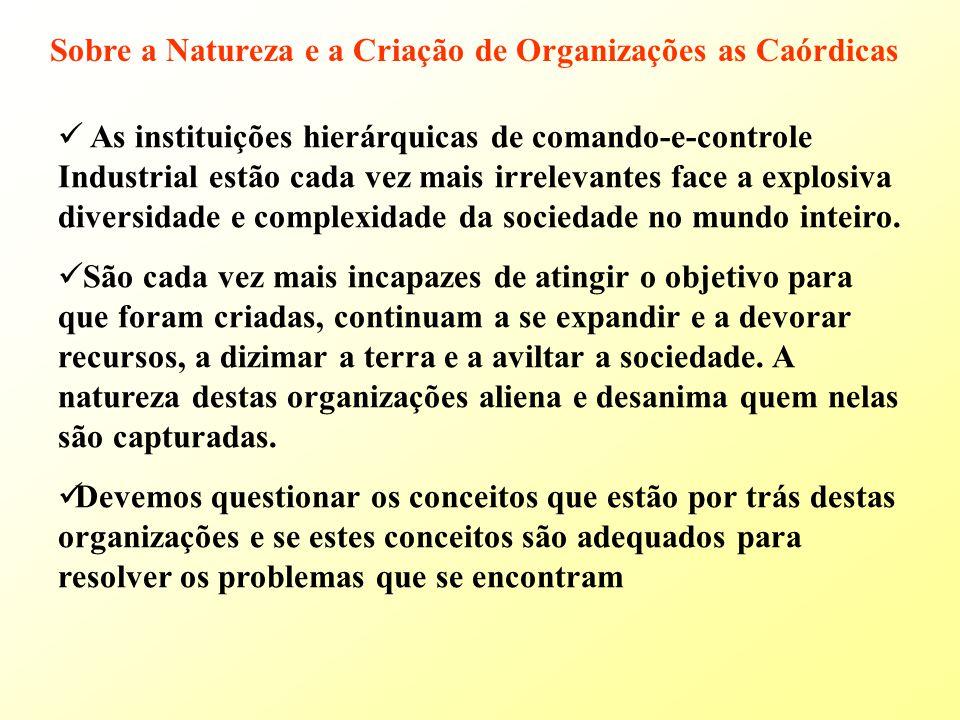 Sobre a Natureza e a Criação de Organizações as Caórdicas