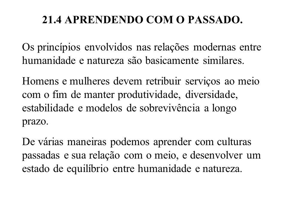 21.4 APRENDENDO COM O PASSADO.