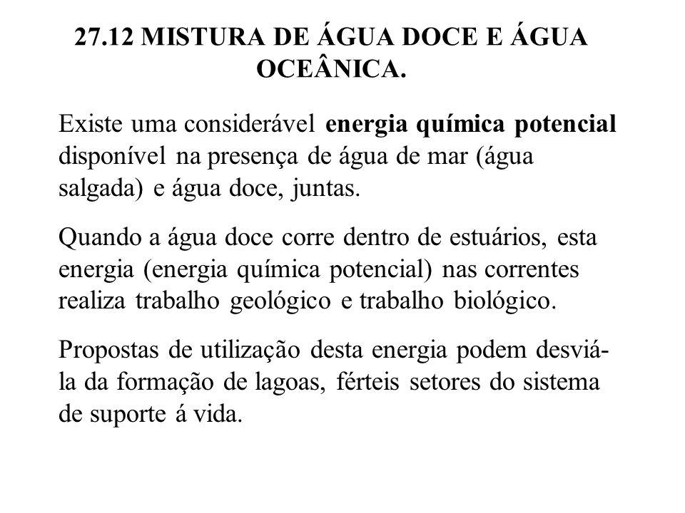 27.12 MISTURA DE ÁGUA DOCE E ÁGUA OCEÂNICA.