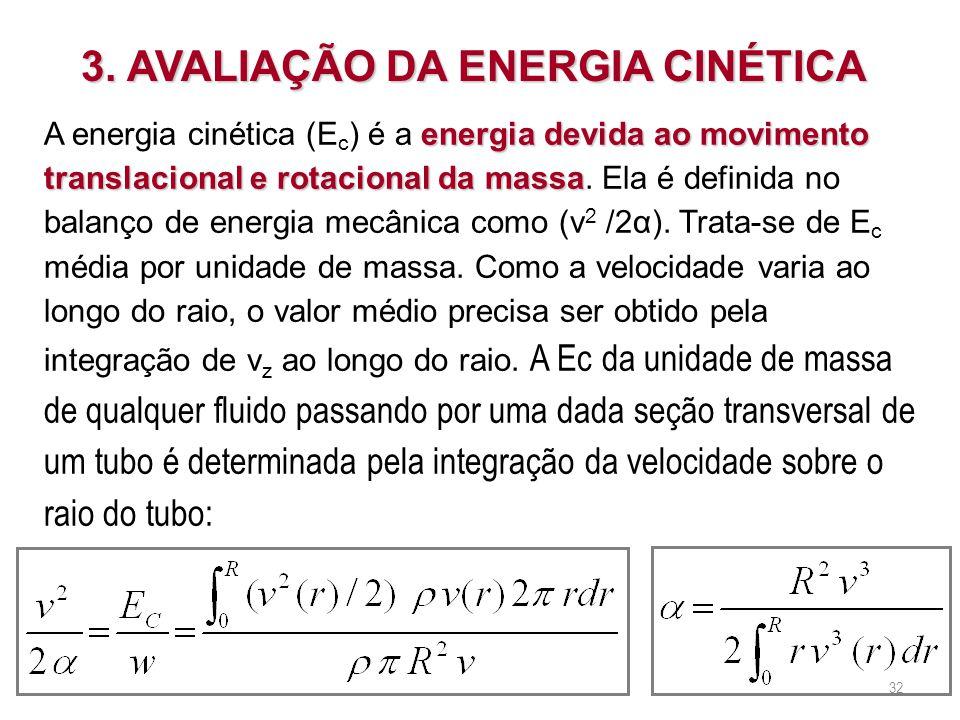 3. AVALIAÇÃO DA ENERGIA CINÉTICA