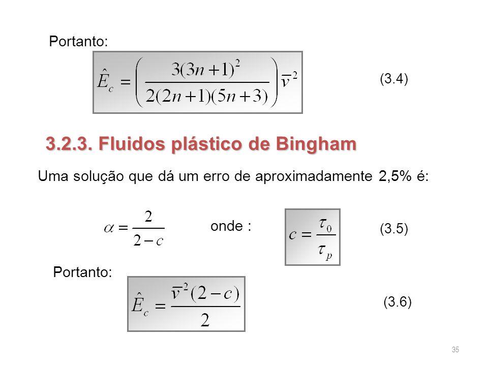 3.2.3. Fluidos plástico de Bingham