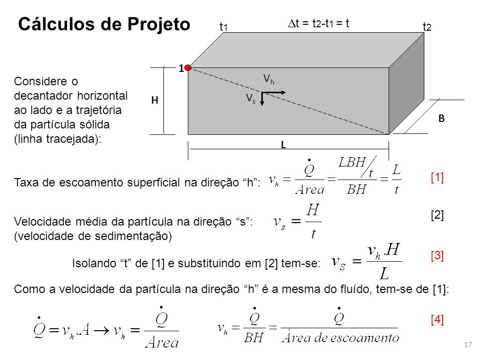 Cálculos de Projeto t = t2-t1 = t t1 t2 1