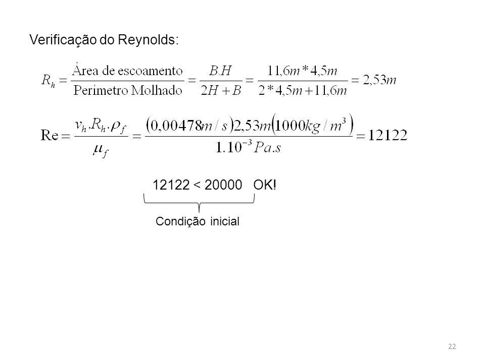Verificação do Reynolds: