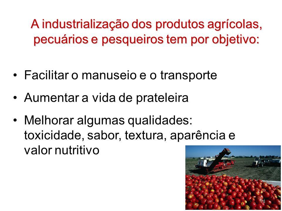 A industrialização dos produtos agrícolas, pecuários e pesqueiros tem por objetivo: