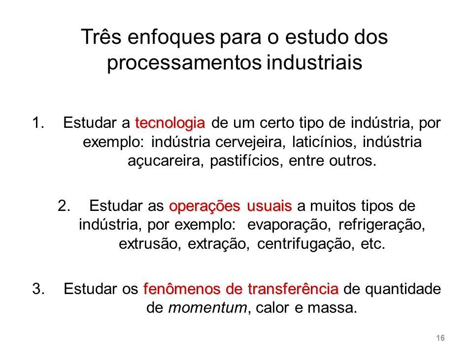 Três enfoques para o estudo dos processamentos industriais
