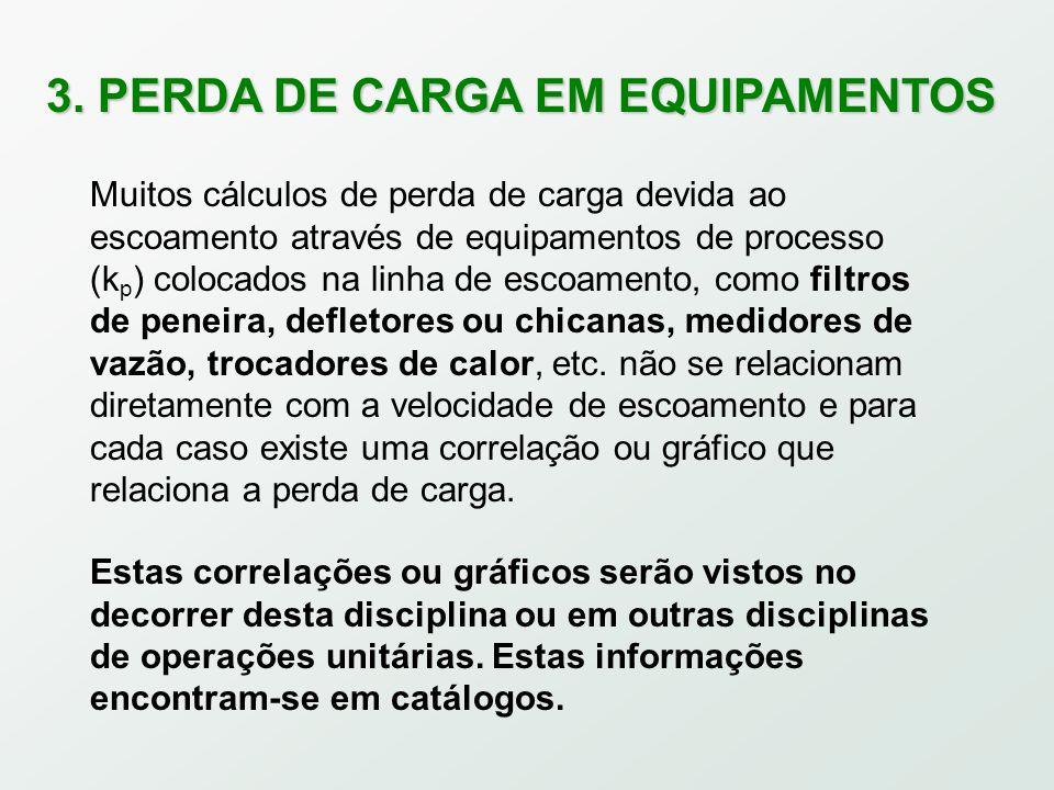 3. PERDA DE CARGA EM EQUIPAMENTOS