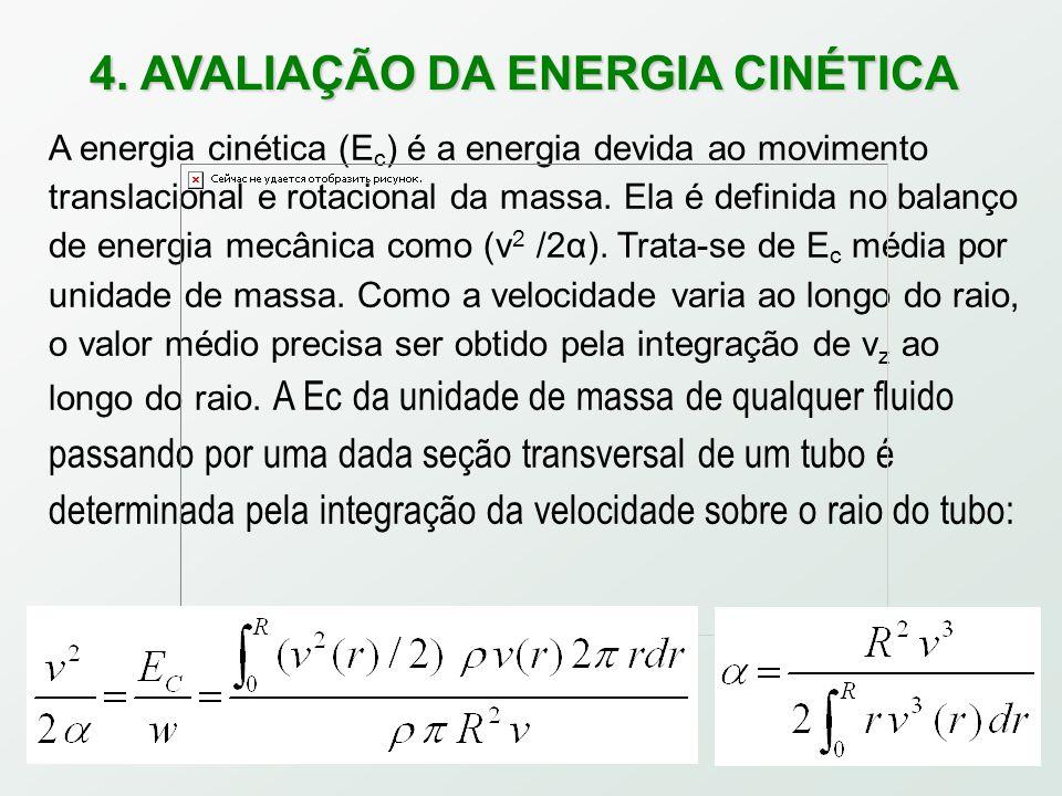 4. AVALIAÇÃO DA ENERGIA CINÉTICA