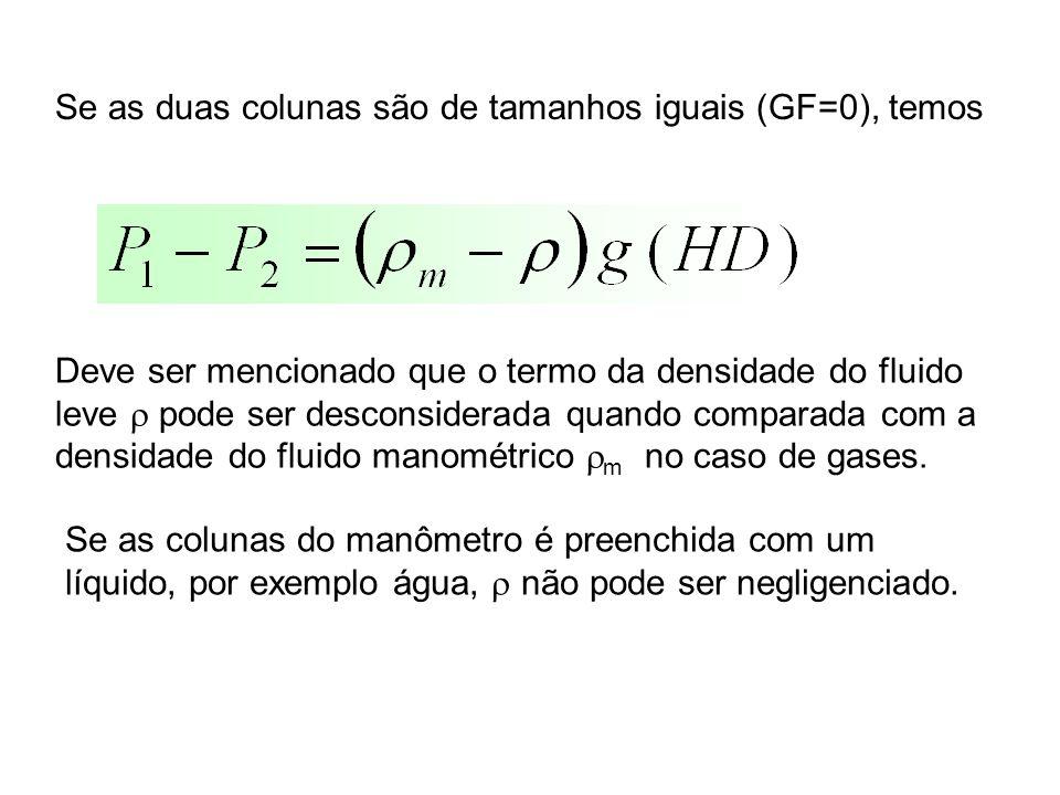 Se as duas colunas são de tamanhos iguais (GF=0), temos
