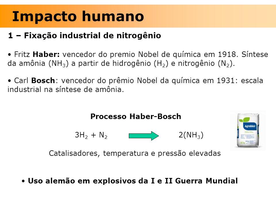 Impacto humano 1 – Fixação industrial de nitrogênio