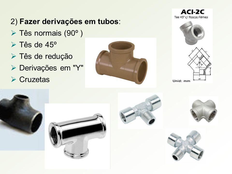 2) Fazer derivações em tubos: