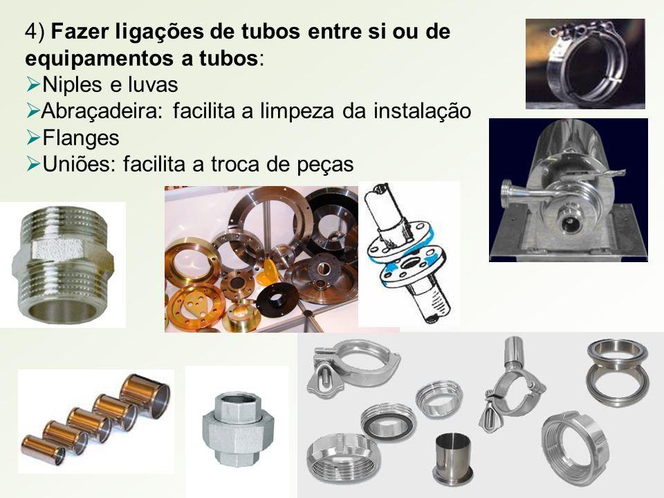 4) Fazer ligações de tubos entre si ou de equipamentos a tubos: