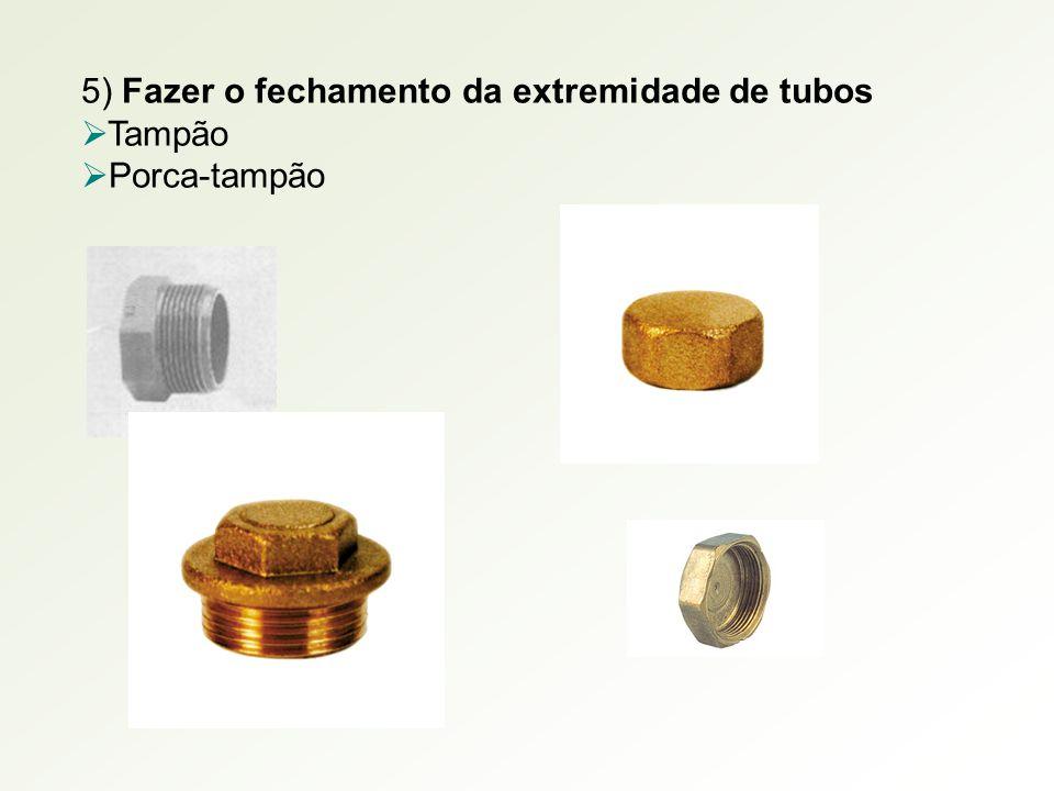 5) Fazer o fechamento da extremidade de tubos