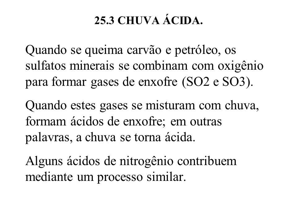 Alguns ácidos de nitrogênio contribuem mediante um processo similar.