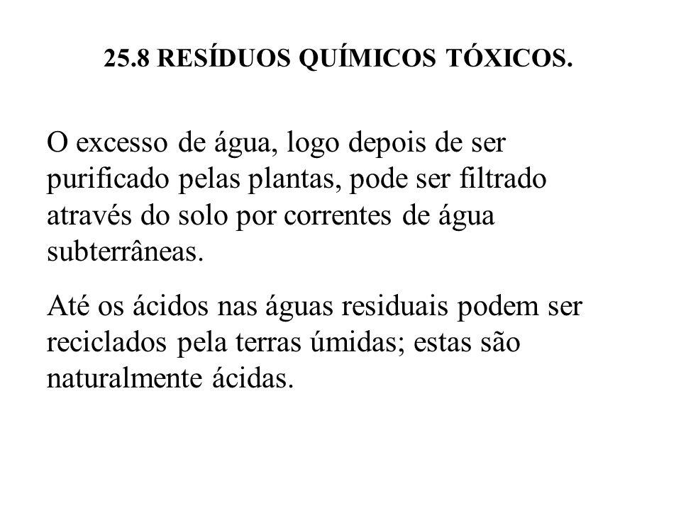 25.8 RESÍDUOS QUÍMICOS TÓXICOS.