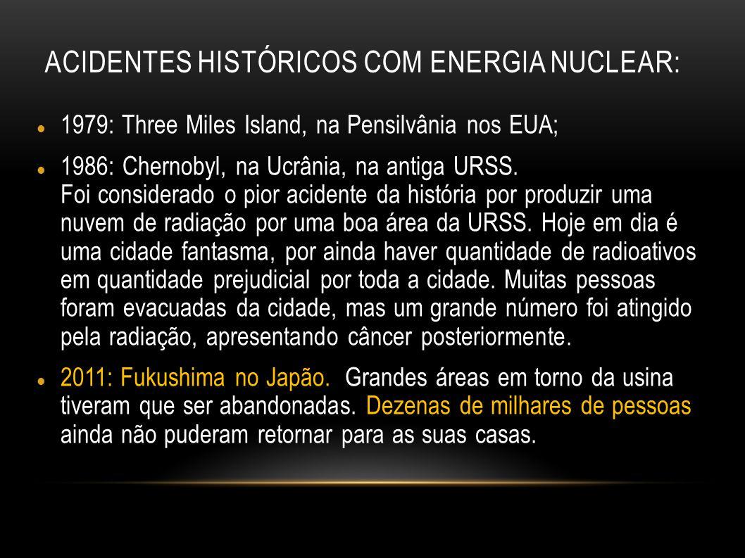 Acidentes históricos com energia nuclear: