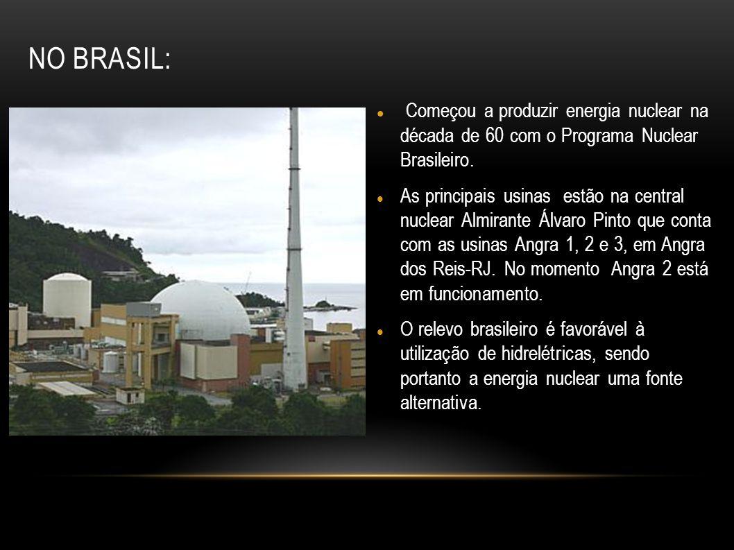 No Brasil: Começou a produzir energia nuclear na década de 60 com o Programa Nuclear Brasileiro.