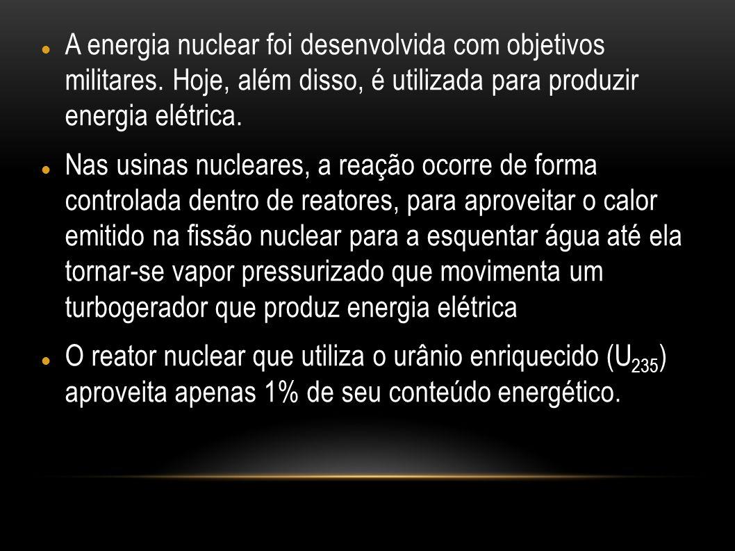 A energia nuclear foi desenvolvida com objetivos militares