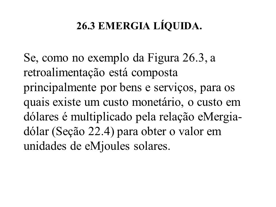 26.3 EMERGIA LÍQUIDA.