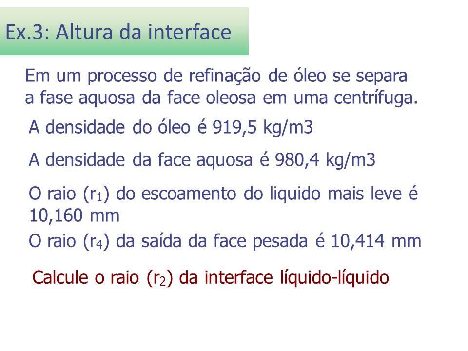 Ex.3: Altura da interface