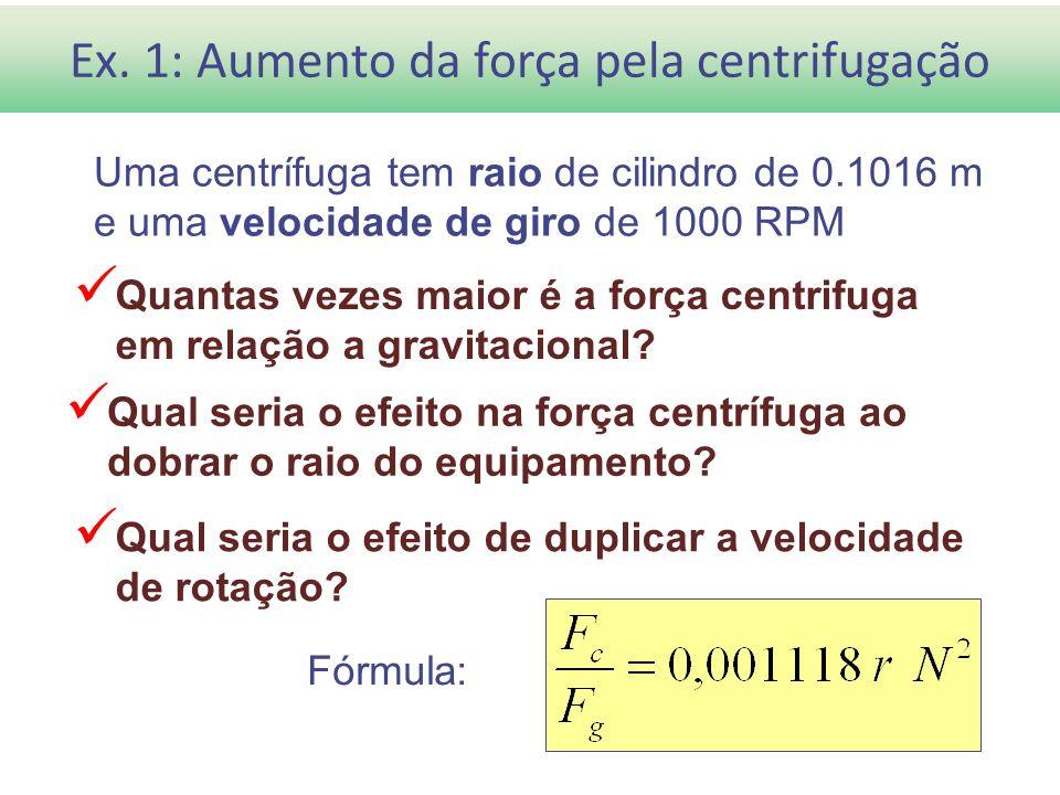 Ex. 1: Aumento da força pela centrifugação