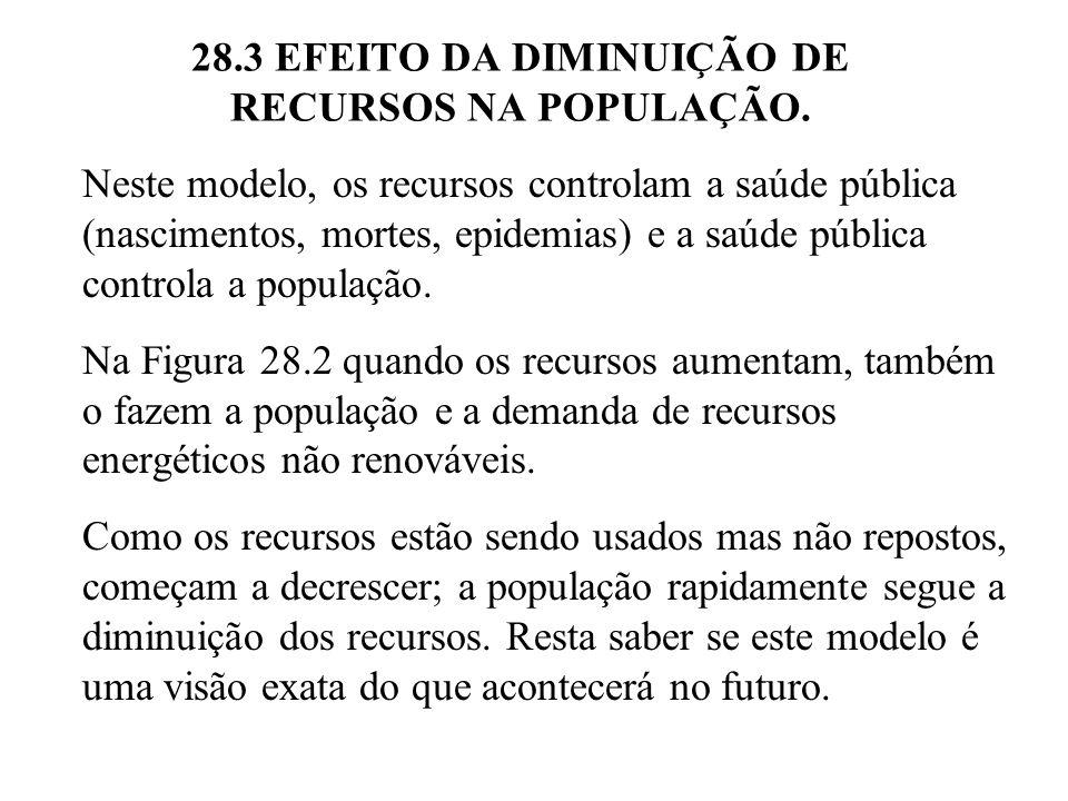 28.3 EFEITO DA DIMINUIÇÃO DE RECURSOS NA POPULAÇÃO.
