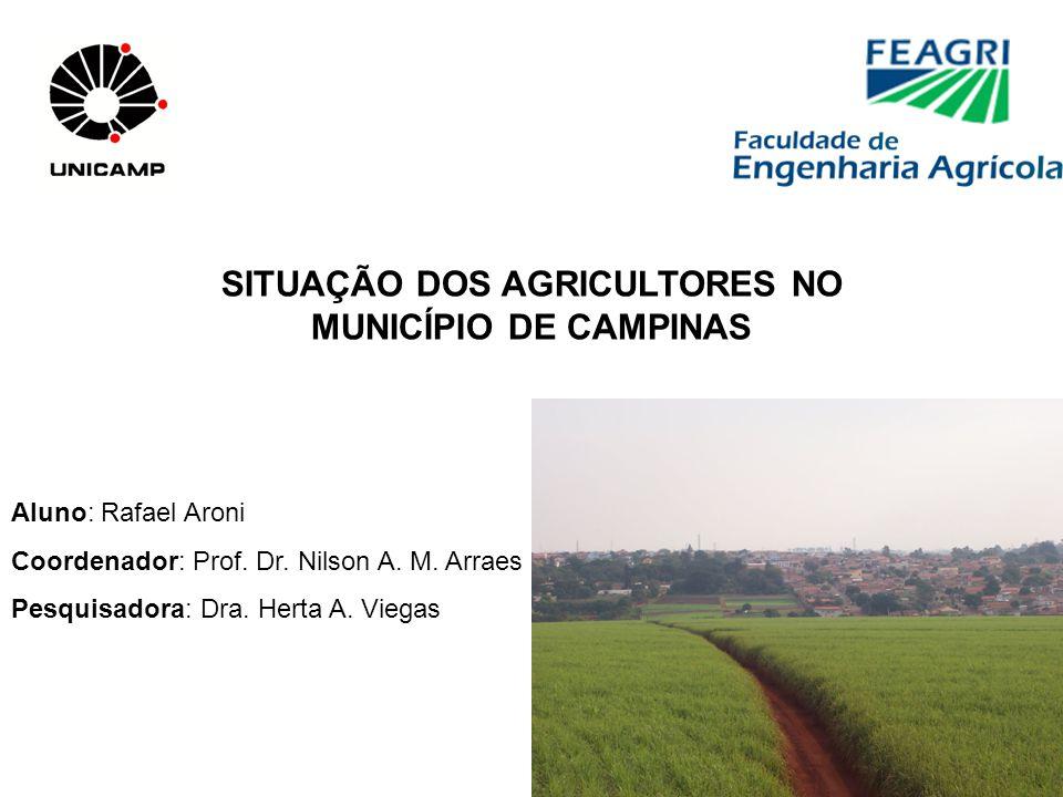 SITUAÇÃO DOS AGRICULTORES NO MUNICÍPIO DE CAMPINAS