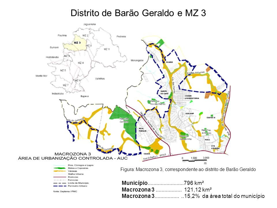 Distrito de Barão Geraldo e MZ 3