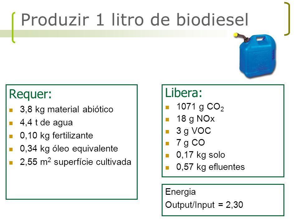 Produzir 1 litro de biodiesel