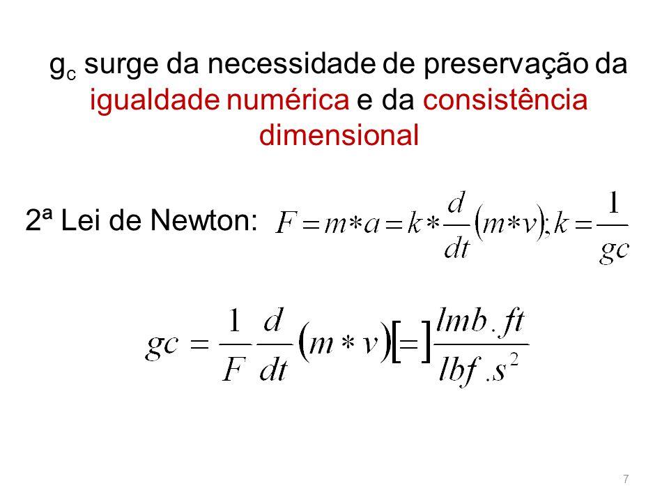 gc surge da necessidade de preservação da igualdade numérica e da consistência dimensional