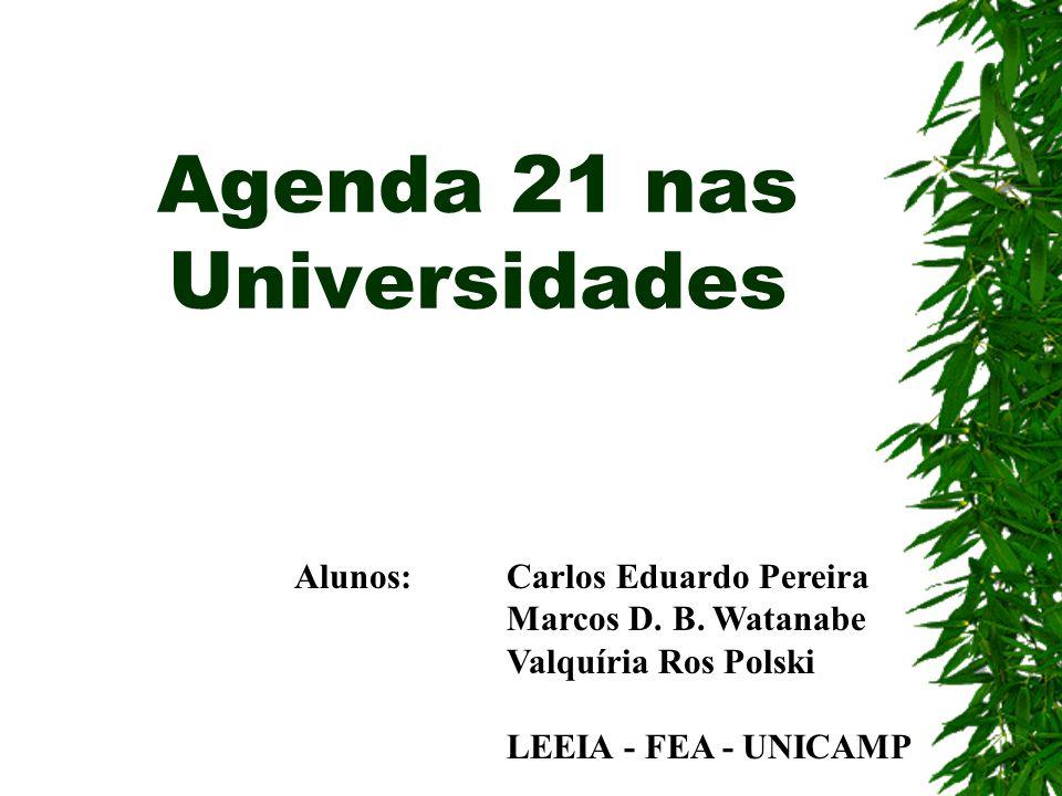 Agenda 21 nas Universidades