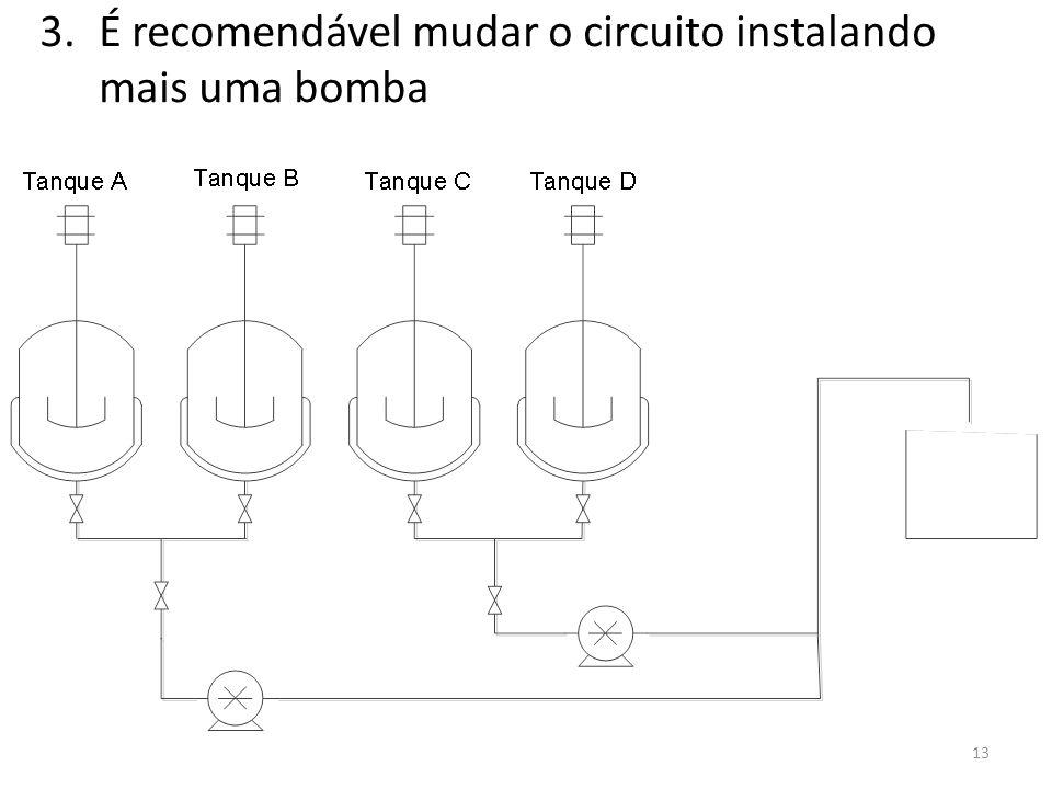 É recomendável mudar o circuito instalando mais uma bomba