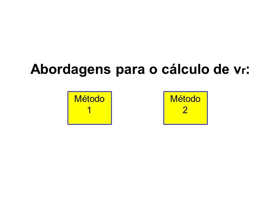 Abordagens para o cálculo de vr: