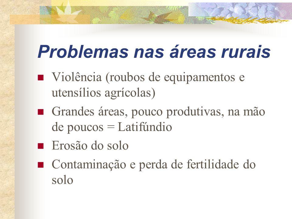 Problemas nas áreas rurais