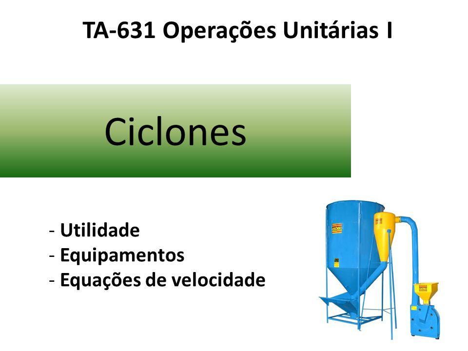 TA-631 Operações Unitárias I