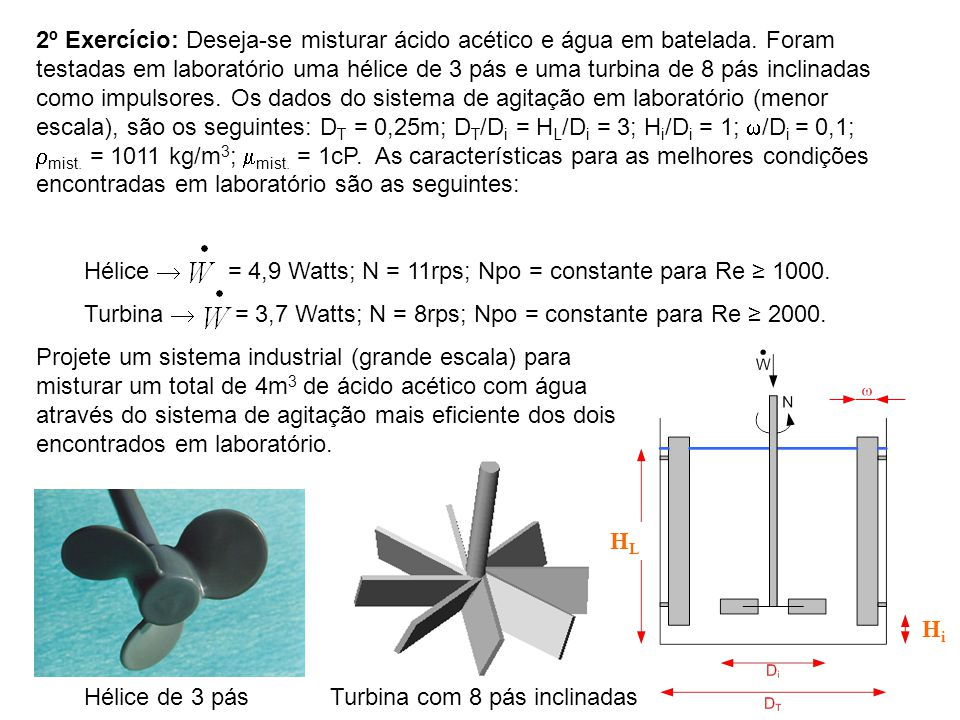 Turbina com 8 pás inclinadas