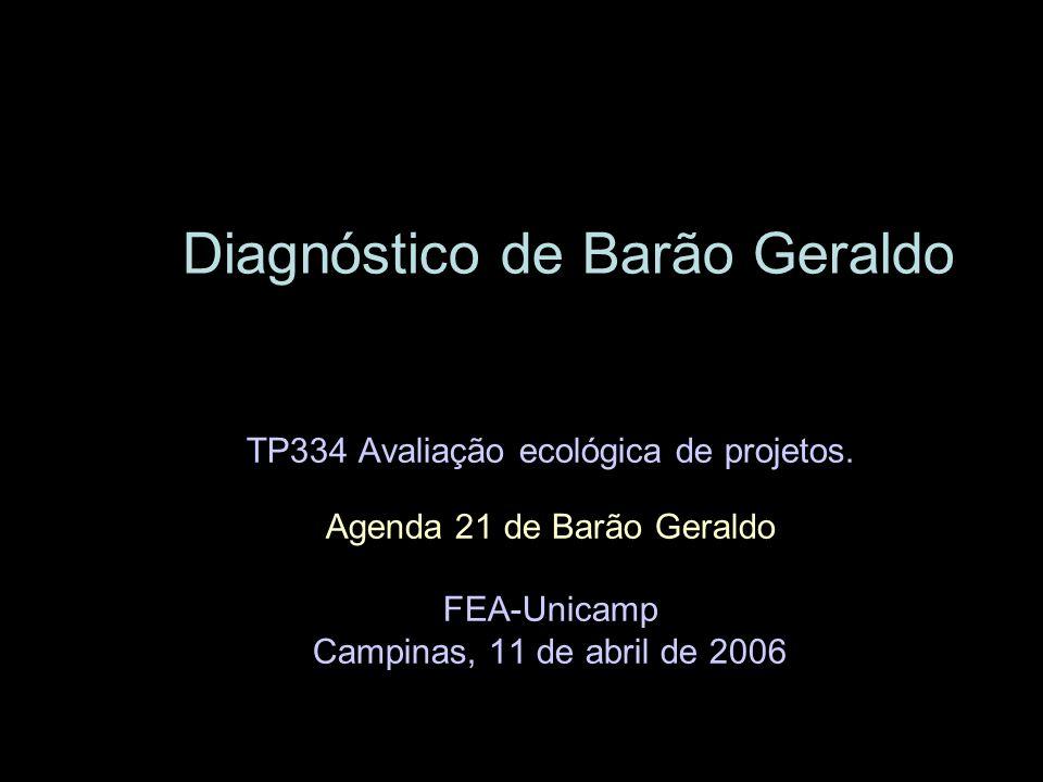 Diagnóstico de Barão Geraldo