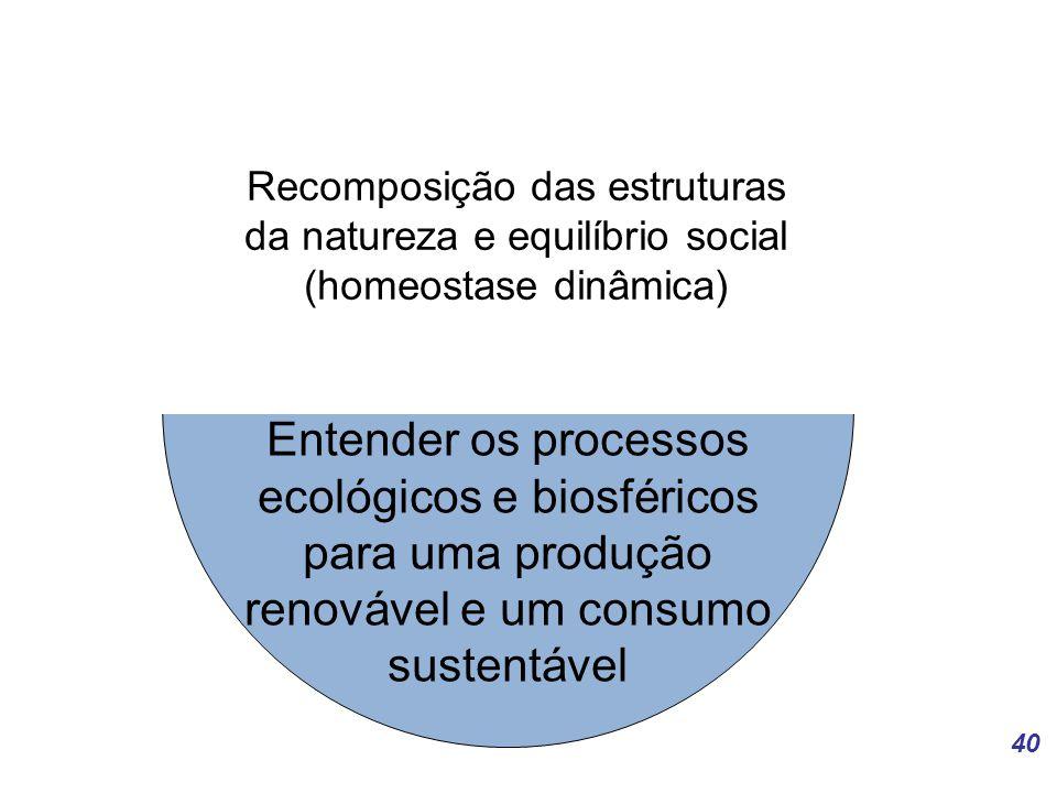 Recomposição das estruturas da natureza e equilíbrio social (homeostase dinâmica)