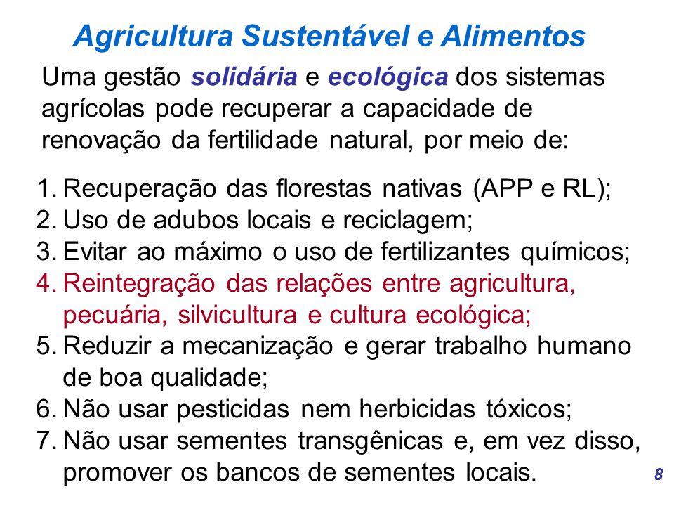 Agricultura Sustentável e Alimentos