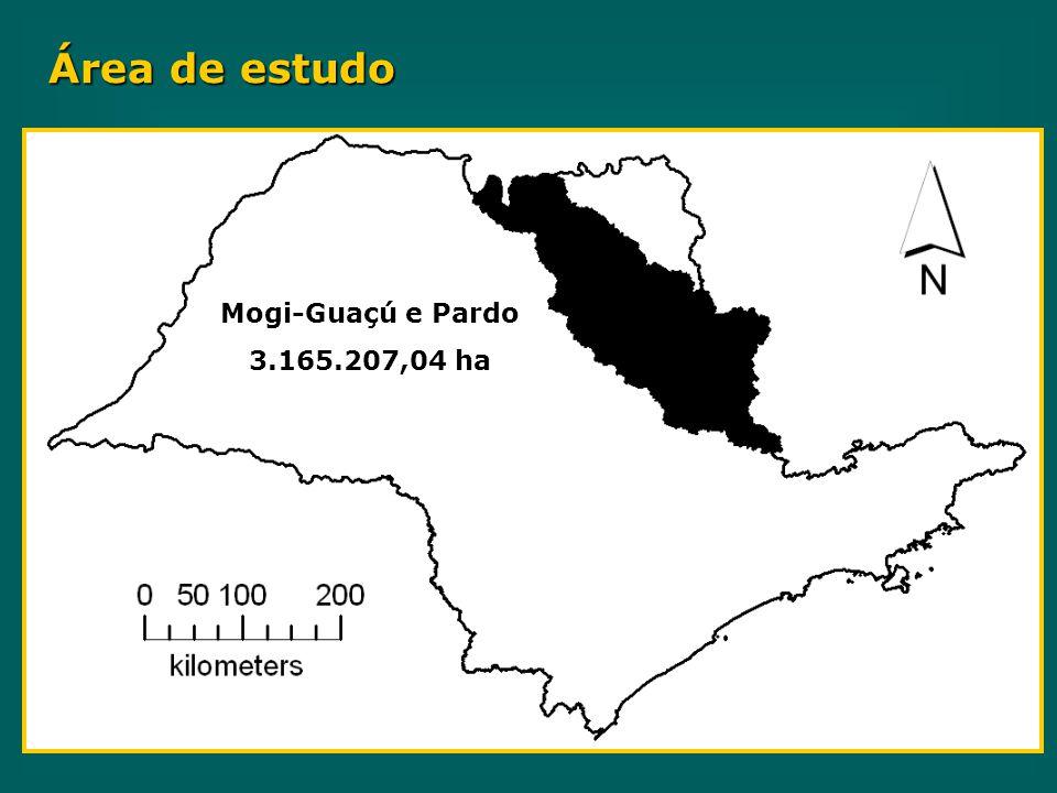 Área de estudo Mogi-Guaçú e Pardo 3.165.207,04 ha