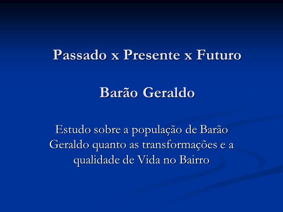 Passado x Presente x Futuro Barão Geraldo