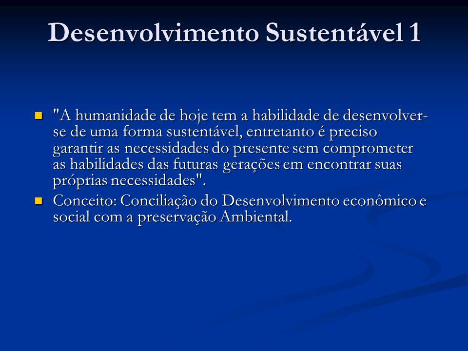 Desenvolvimento Sustentável 1