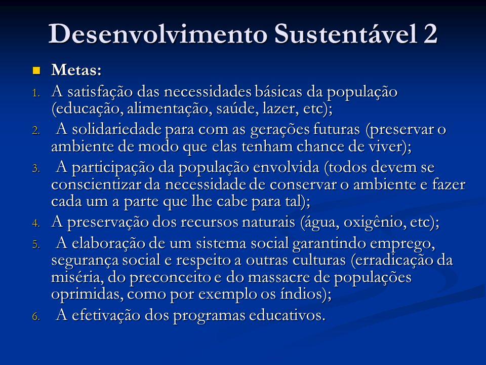 Desenvolvimento Sustentável 2